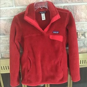 Red Patagonia Pull-over